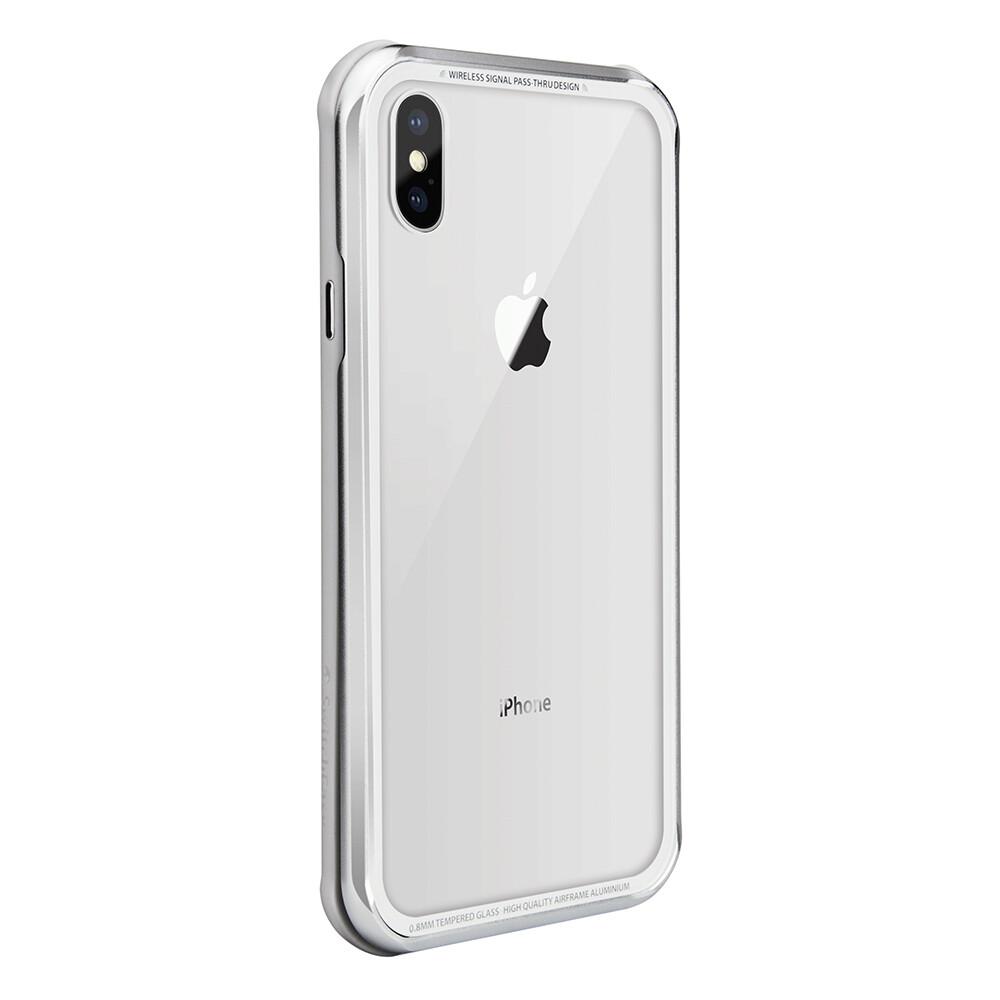 Estuche SWITCHEASY Iglass 3 En 1 Vidrio Templado + Aluminio + Tpu Gris IPHONE XS (5.8)