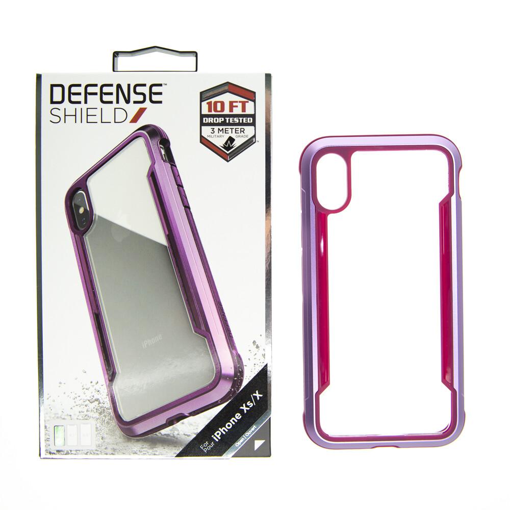 Estuche XDORIA Defense Shield  Transparente / Morado IPHONE XS (5.8)