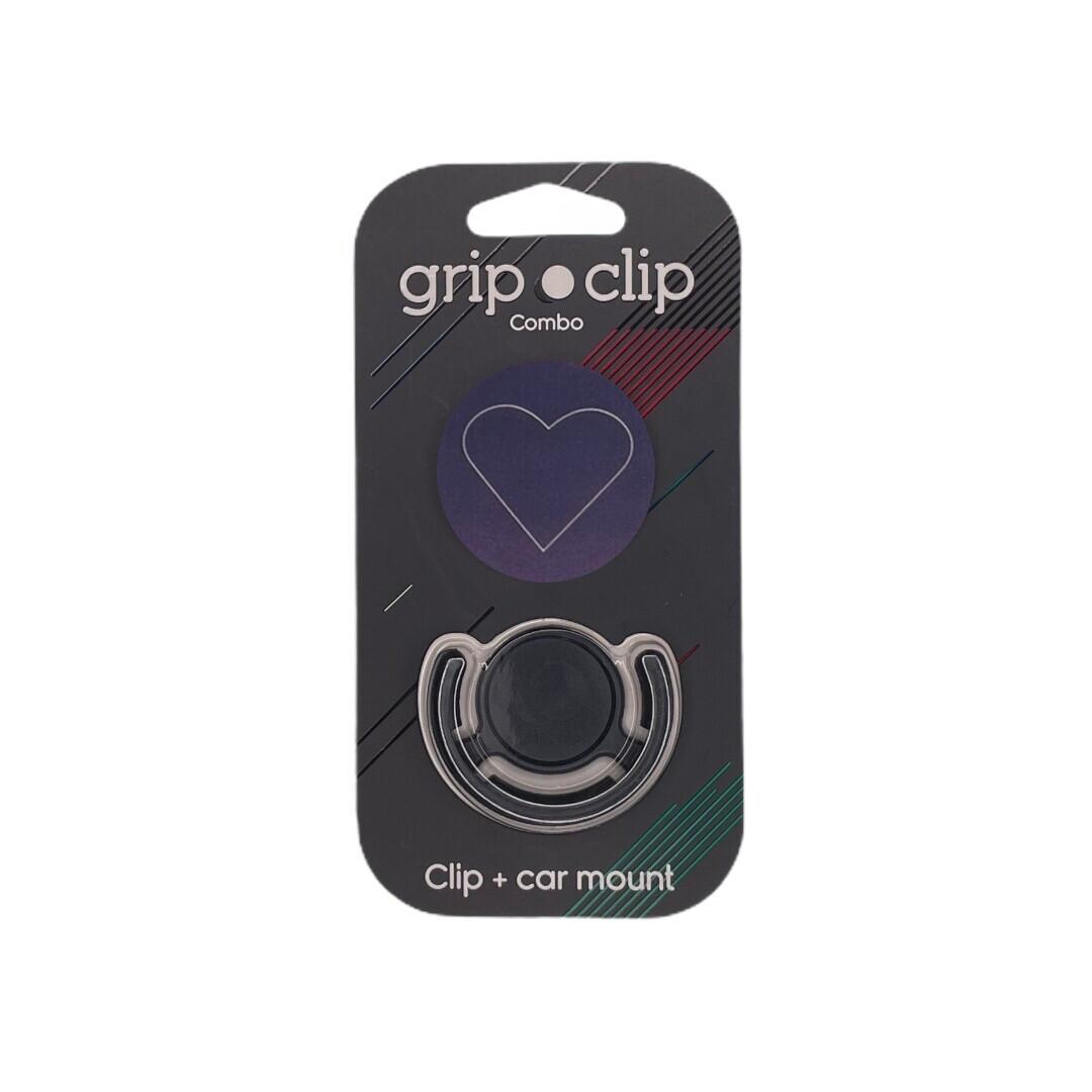 GRIP CLIP Negro Con Corazon + holder