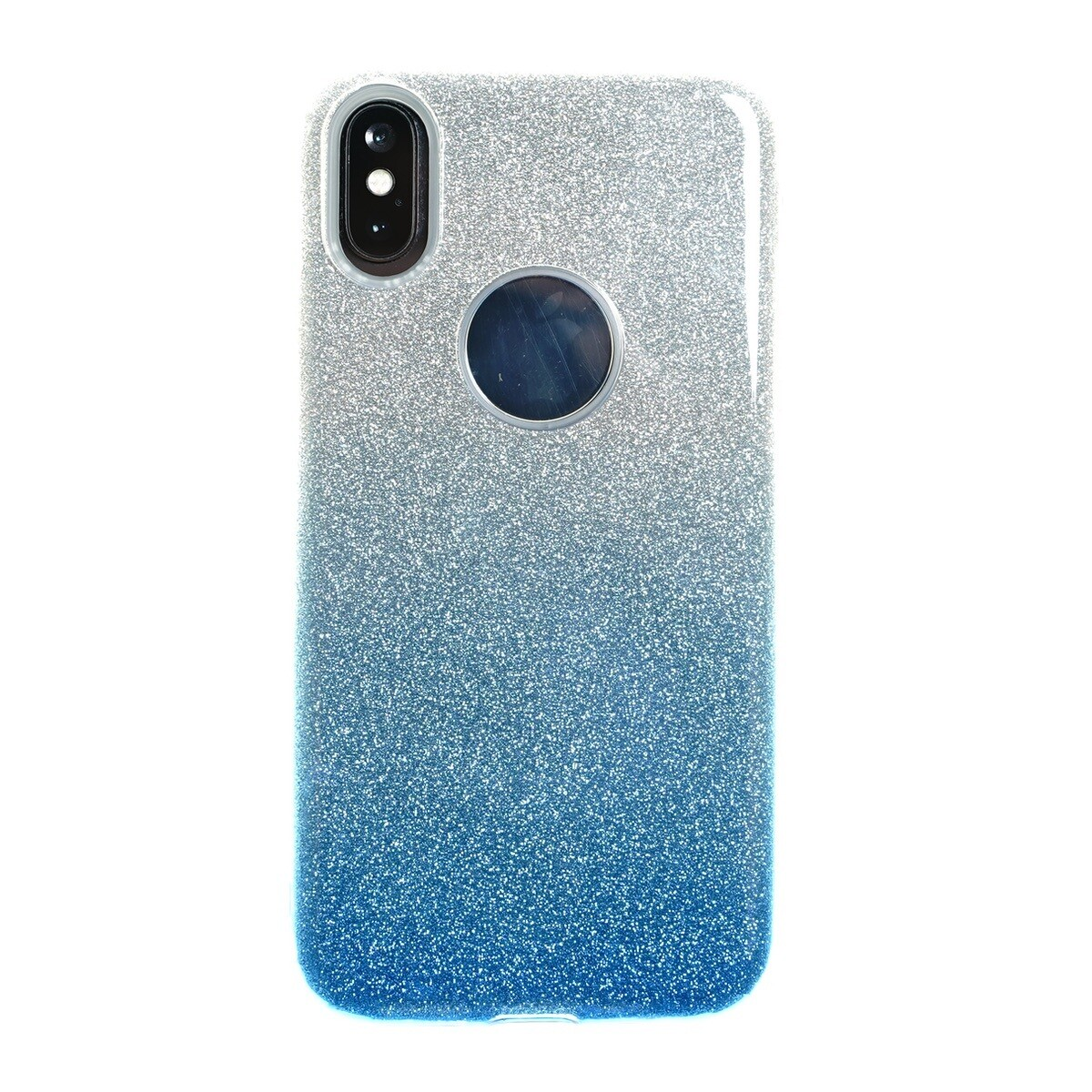 Estuche EL REY Glitter Degrade Azul IPHONE XS MAX (6.5)