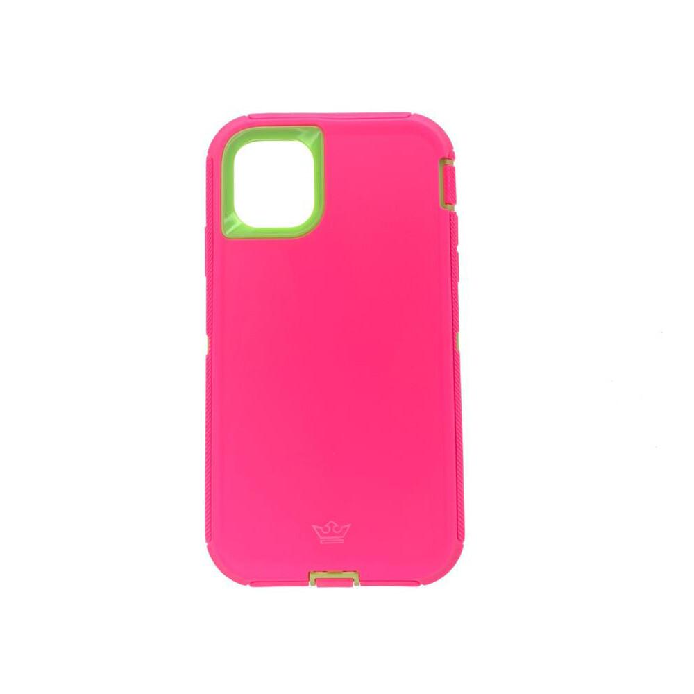 Estuche EL REY Defender Fucsia / Verde  - Iphone11 (6.1)