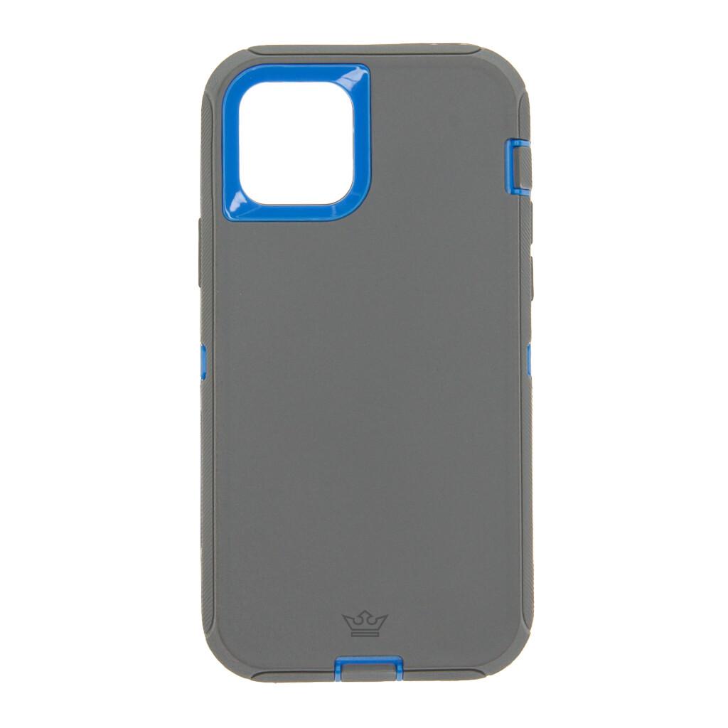 Estuche EL REY Defender Con Clip Gris / Azul - IPHONE 12 / PRO 6.1