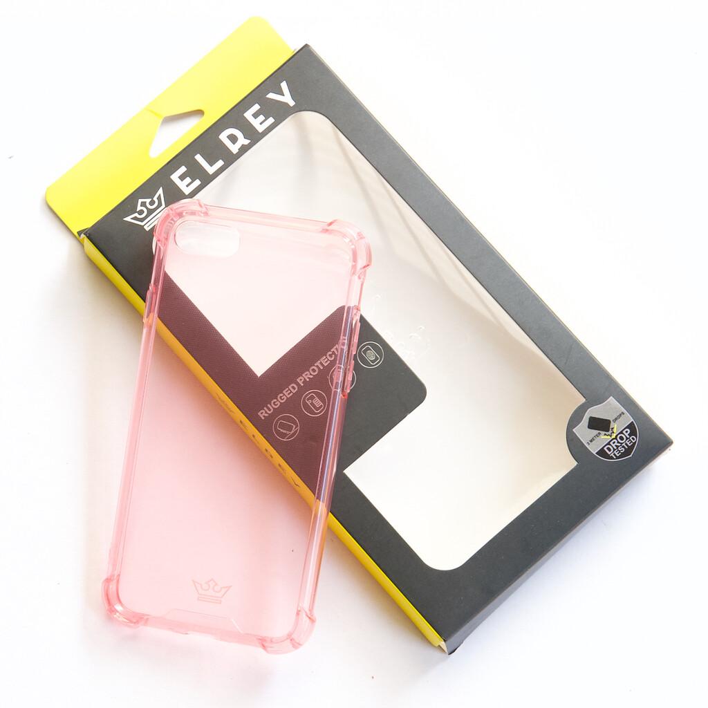 Estuche EL REY Hard Case Flexible Reforzado Rosado Iphone 7