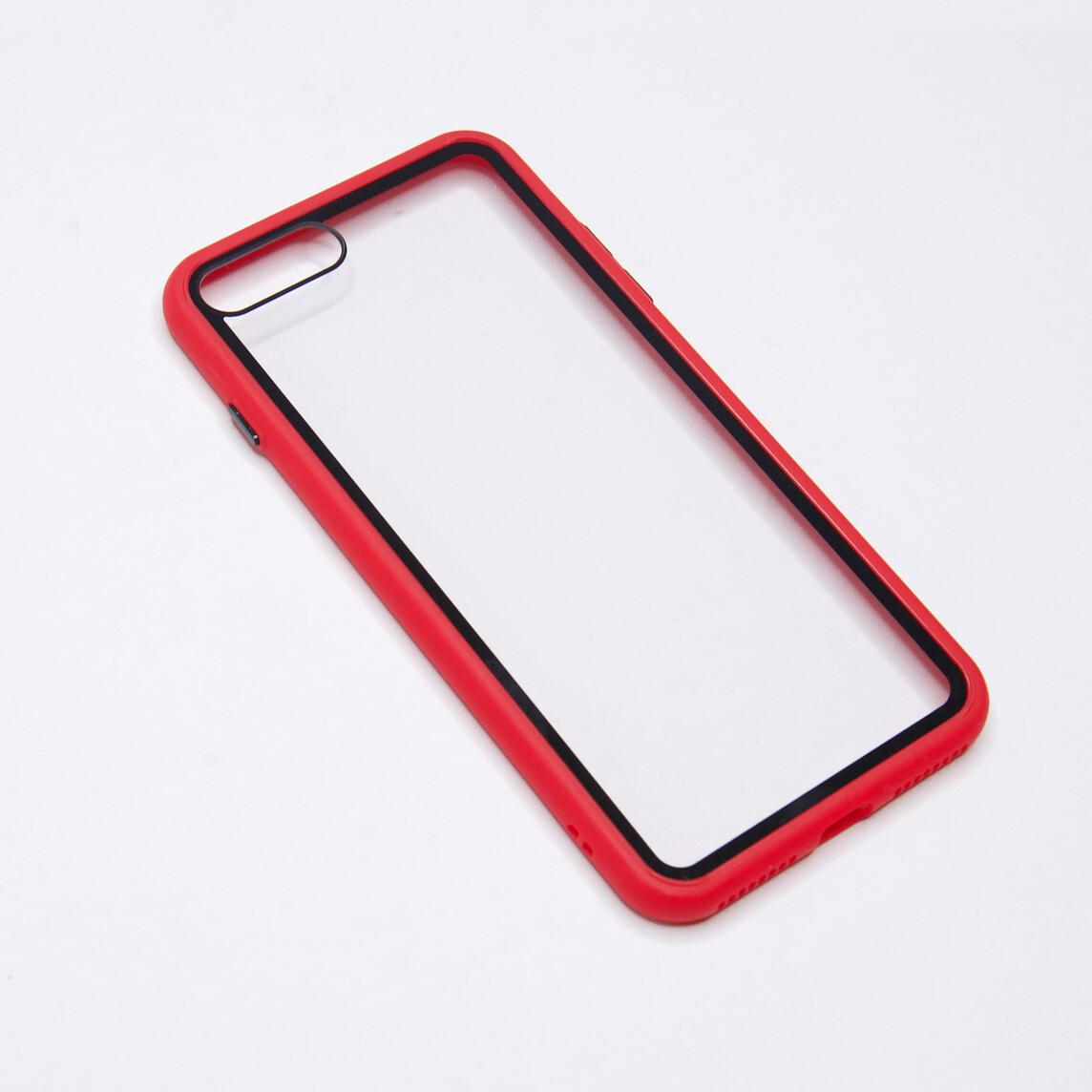 Estuche EL REY Marco De Color Rojo Y Parte De Atras Transparente - Iphone 7 /8 Plus