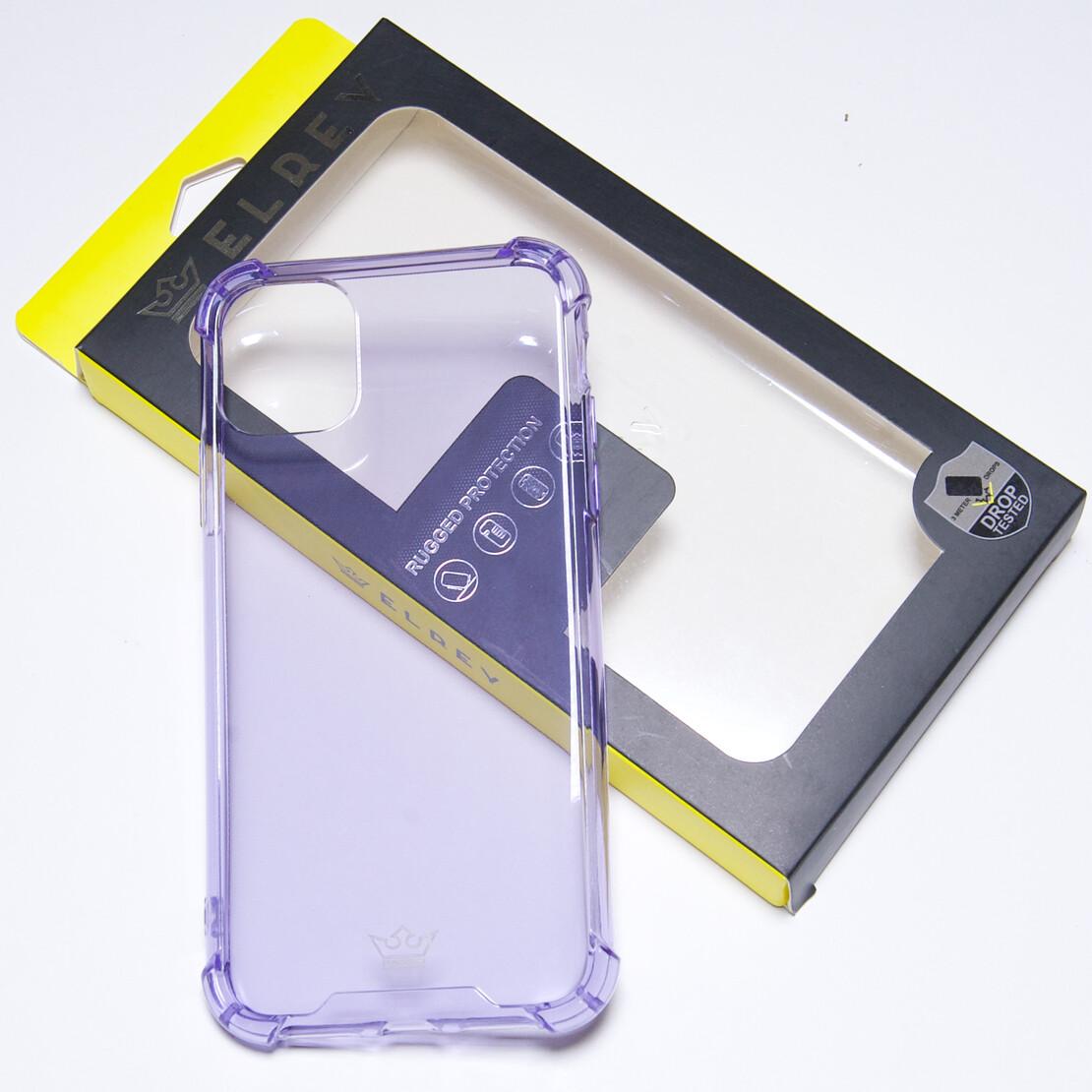 Estuche EL REY Hard Case Flexible Reforzado Morado Iphone 11 Pro Max