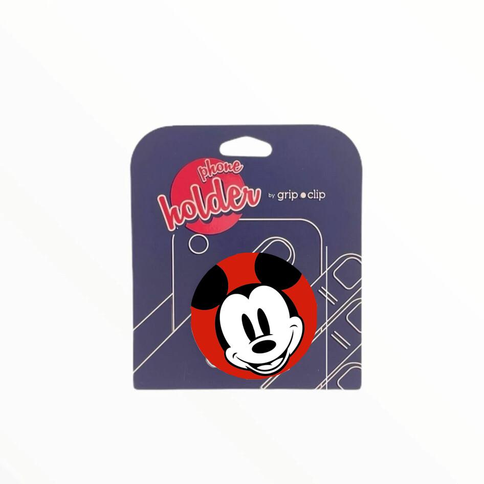 GRIP CLIP Mickey Mouse  cara fondo rojo