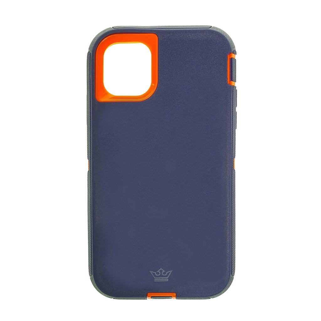 Estuche EL REY Defender Azul / Naranja- IPHONE 11 (6.1)