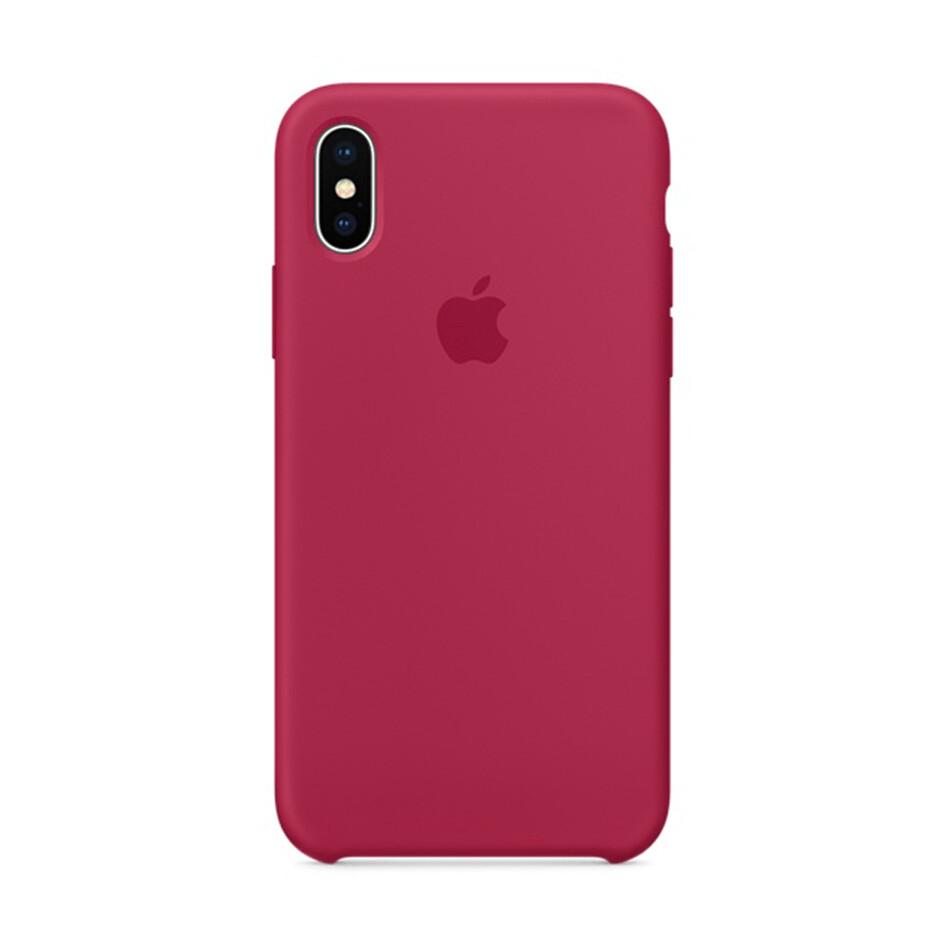 Estuche APPLE Original (Rose Red) IPHONE X ROJO SUAVE