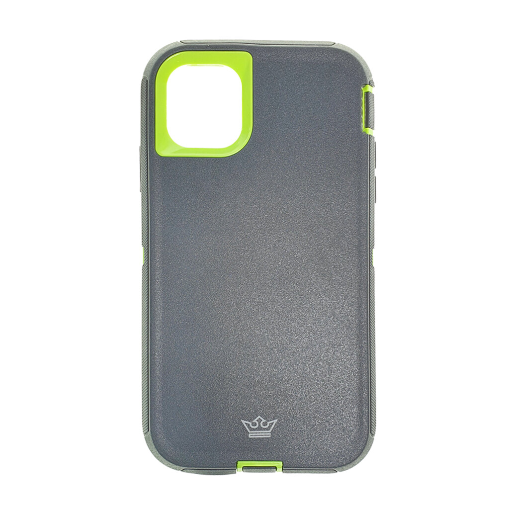 Estuche EL REY Defender  Gris / Verde- IPHONE 11 PRO MAX (6.5)