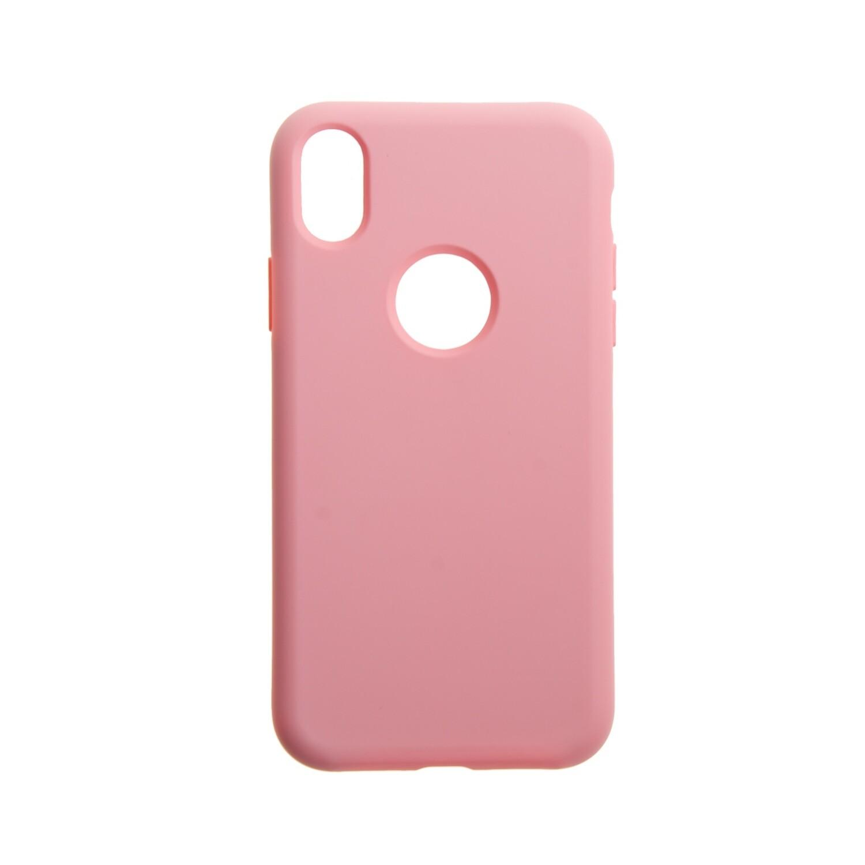 Estuche EL REY Silicon Rosado Iphone Xs