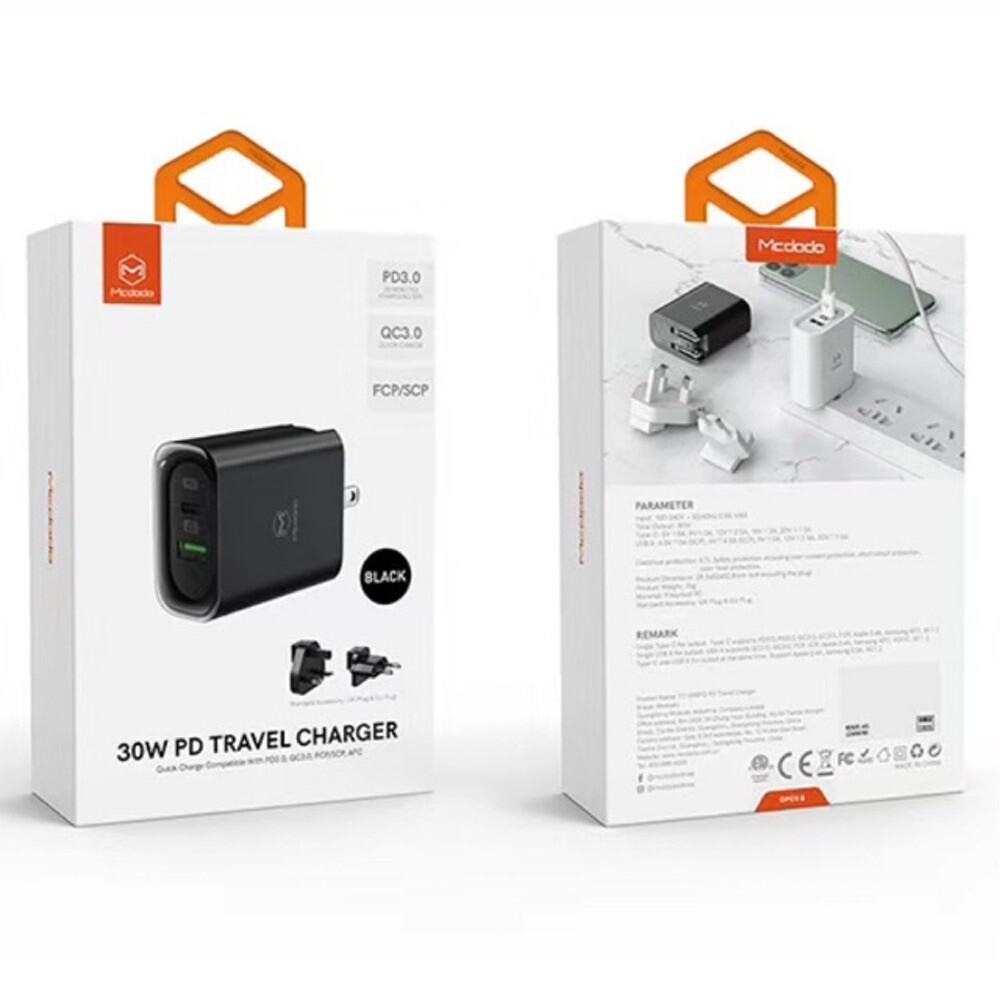 MCDODO CH-5601 30W PD Travel Charger PD3.0 QC3