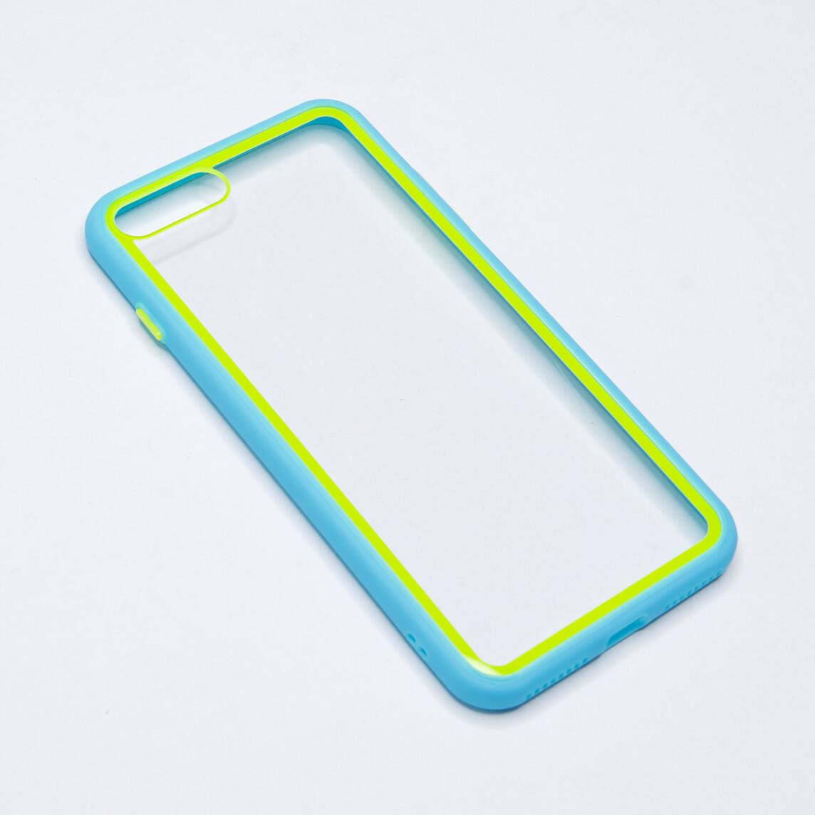 Estuche EL REY Marco De Color Celeste Y Parte De Atras Transparente - Iphone 7 /8 Plus