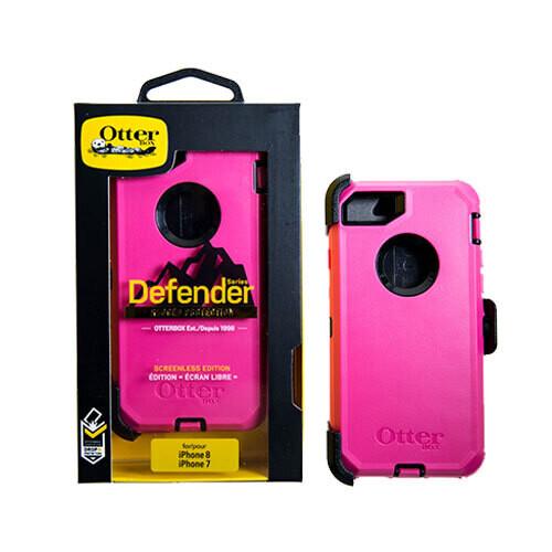 Estuche OTTERBOX Defender IPHONE 7   8   SE 2020 FUCSIA   NEGRO