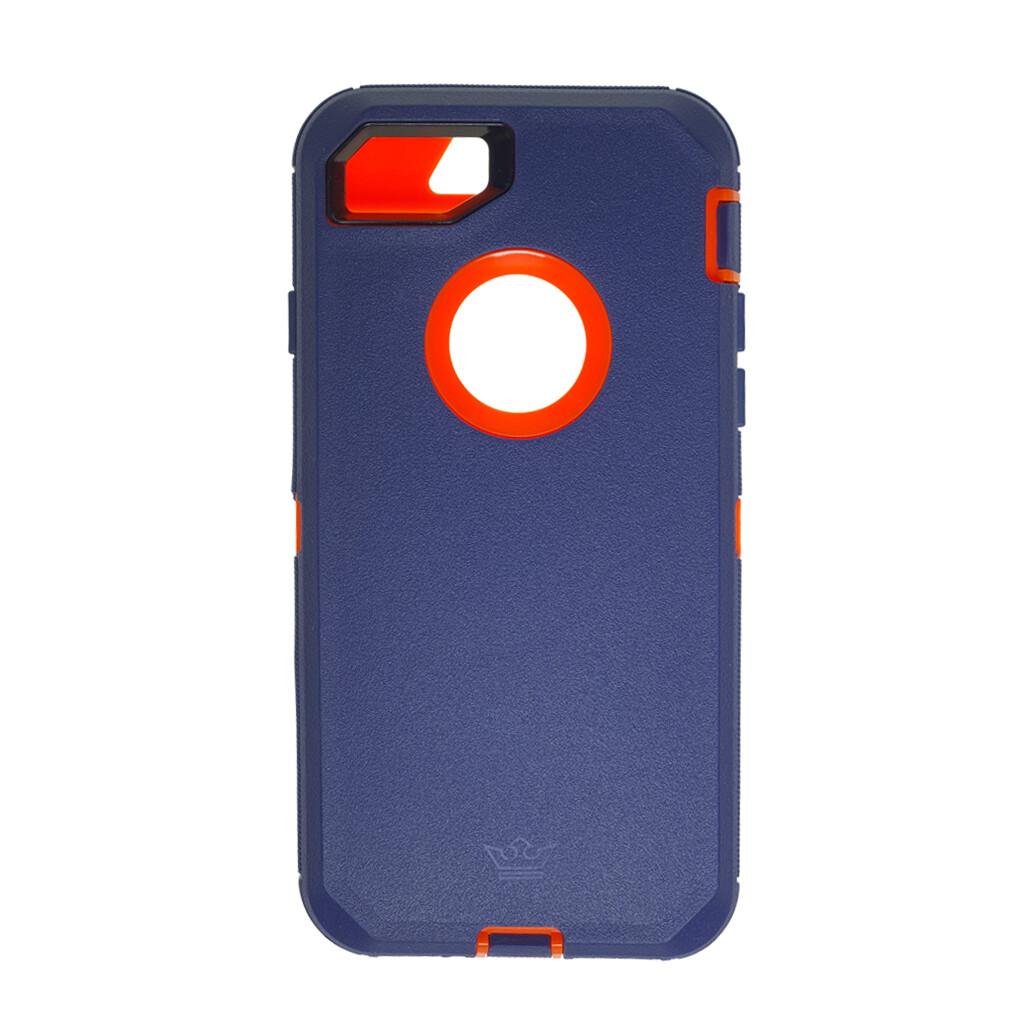 Estuche EL REY Defender Azul / Naranja- IPHONE 7   8   SE 2020