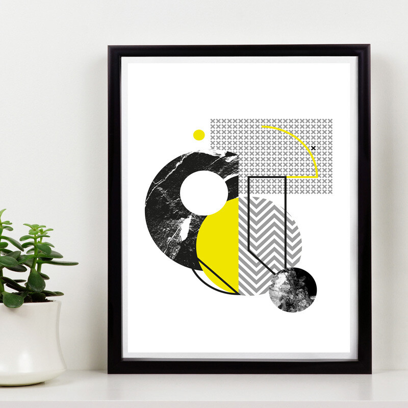 The yellow series // 150 Limited Edition // Eco-conscious Framed Canvas //  8x12 in