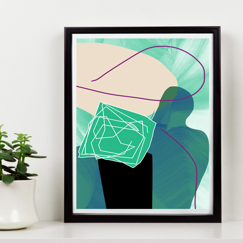 The view // 150 Limited Edition // Eco-conscious print // 11x14 inch