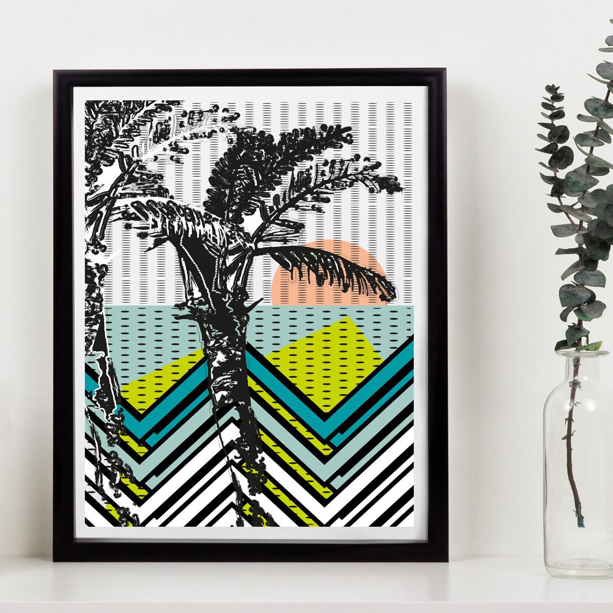 Sandy Beach // 150 Limited Edition // Eco-conscious print // 11x14 inch