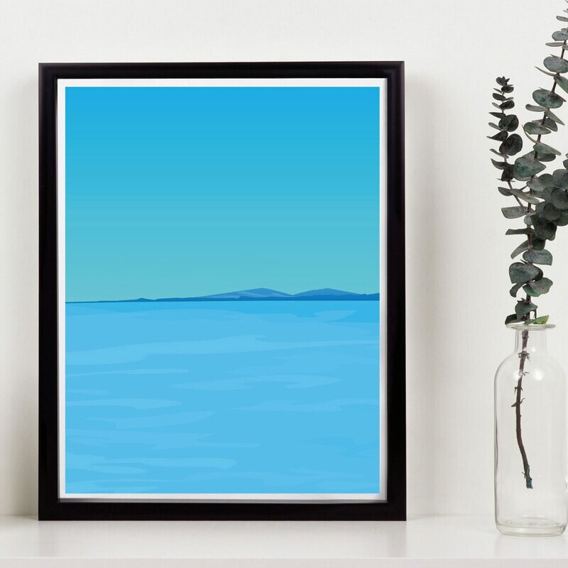 Wales Seaside // 150 Limited Edition // Eco-conscious print // 11x14 inch