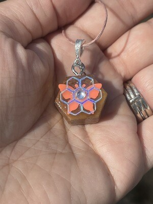 Tiny Wood Butterfly Pendant