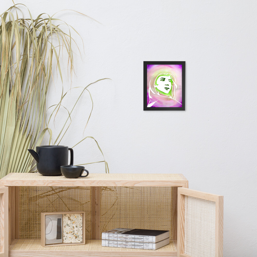 Chiti's Solace Framed Print (inches)