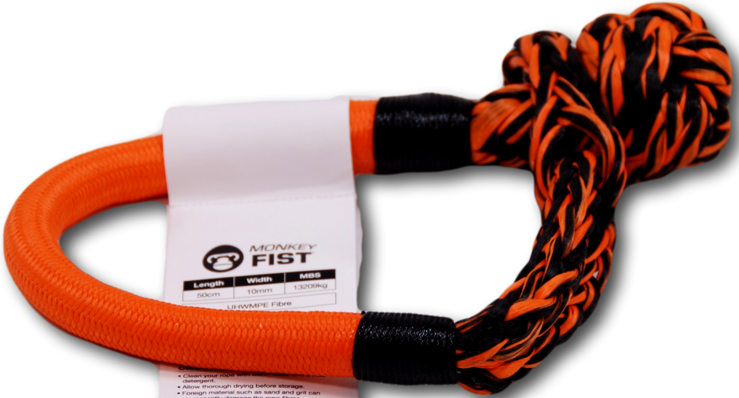 Carbon Offroad Monkey Fist 13T Synthetic Soft Shackle - Orange
