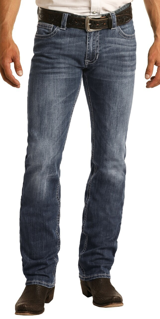 Men's Slim Fit Stretch Revolver Straight Leg Jeans