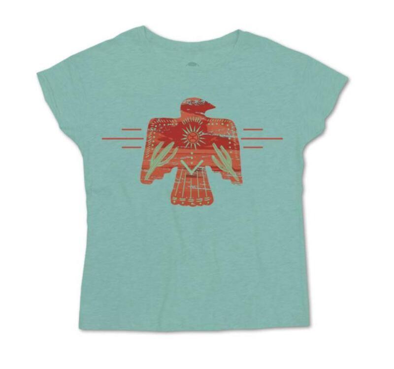 Girl's Hooey Turquoise T-bird T-Shirt