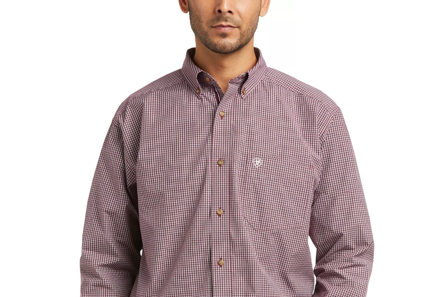 ARIAT POMEGRANATE LONG SLEEVE BUTTON DOWN
