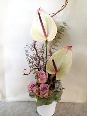 Arrangement fleurs anthurium