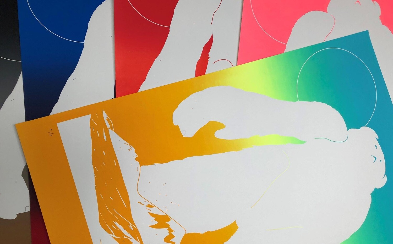 'Gradient Yeti' Screenprint in 5 colourways