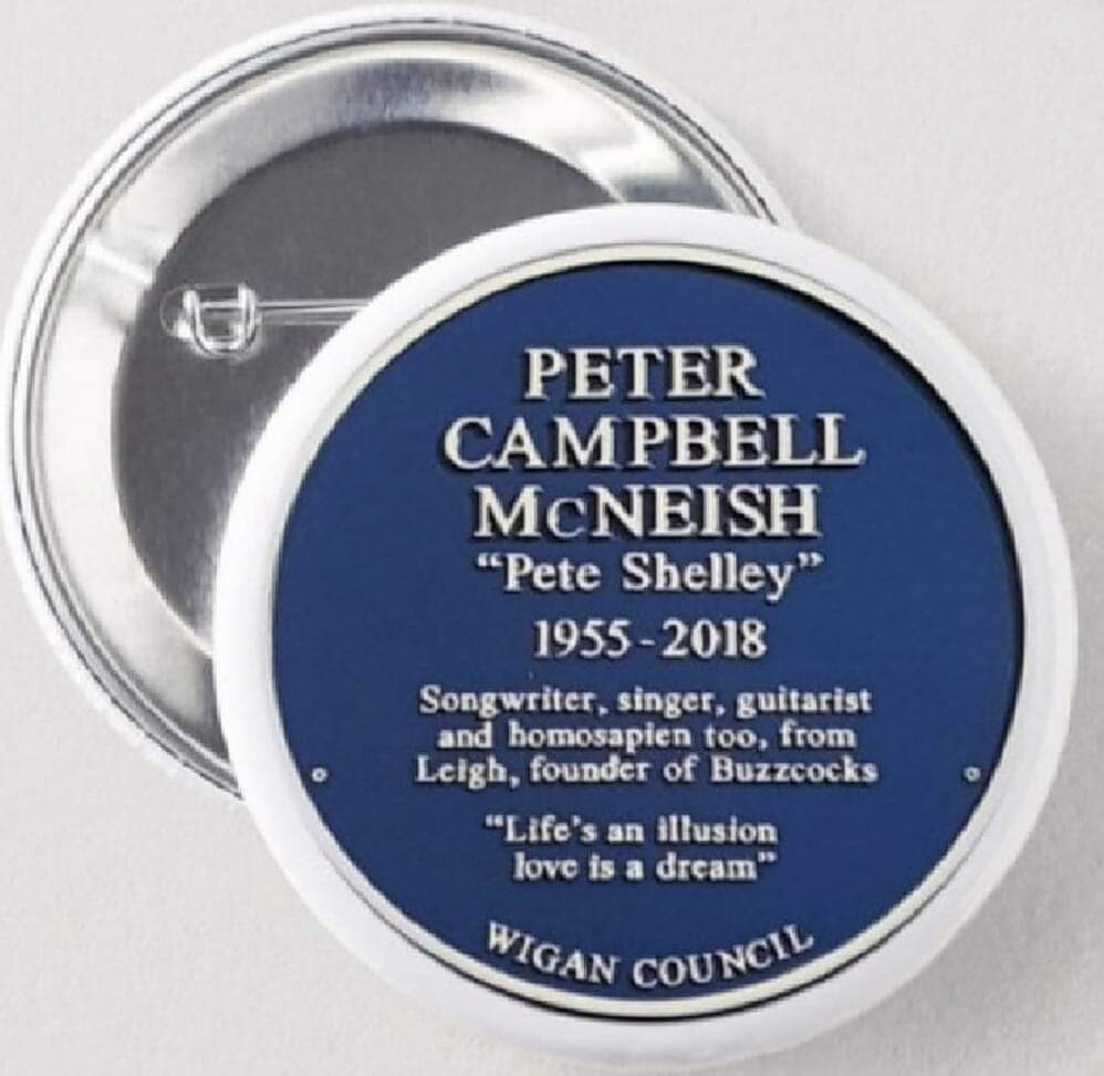 Peter Campbell McNeish Blue Plaque Badge