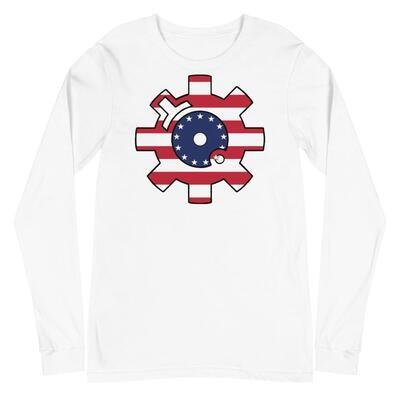 Betsy Ross Bolt Face Long Sleeve T Shirt