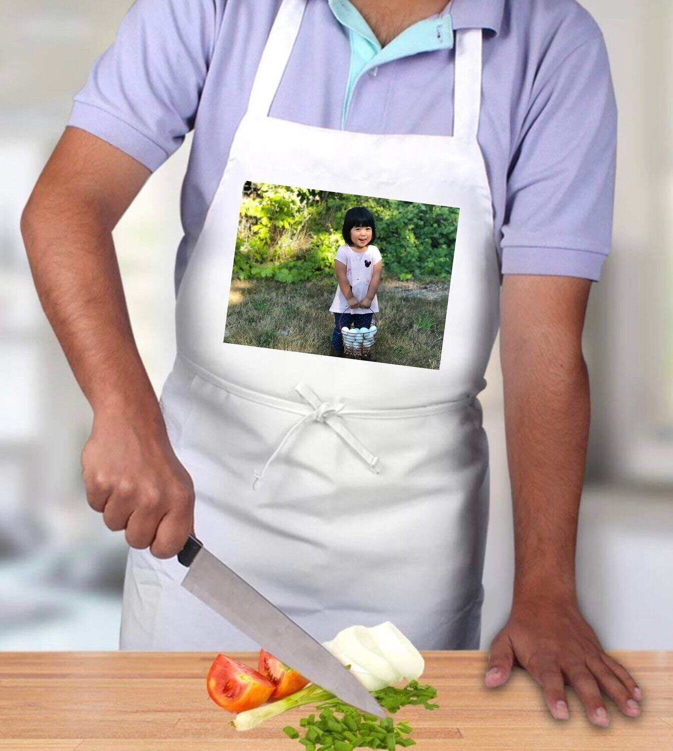Custom photo apron - unisex apron, add your photos or text  - images will not wash out!