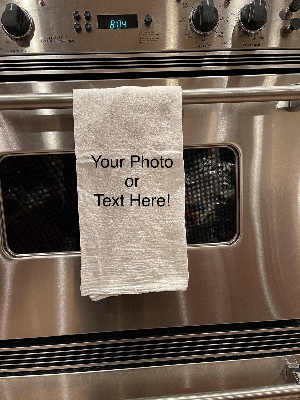 "Custom photo tea towel ORGANIC Cotton!, 29x29"""