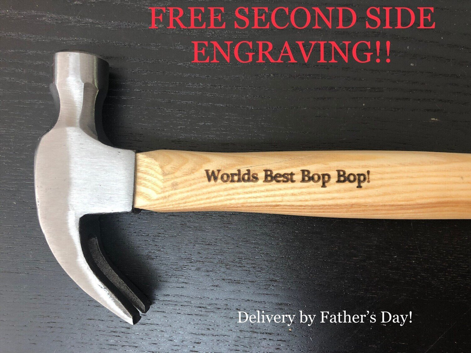 Personalized Laser Engraved Hammer