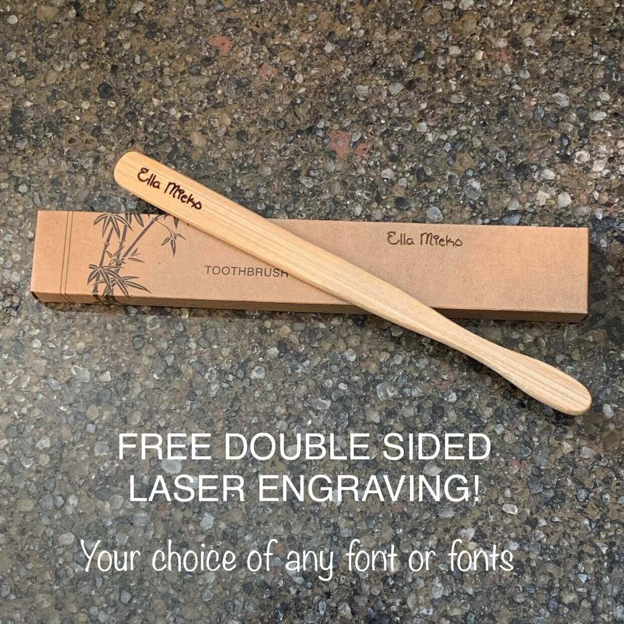 Custom laser engraved toothbrush sets