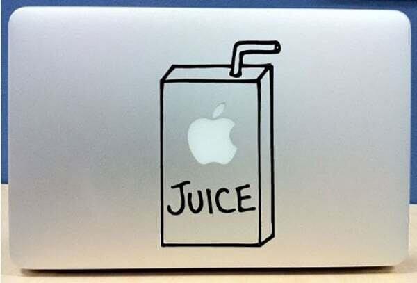 Apple Juice Cute Macbook Decal Laptop Sticker