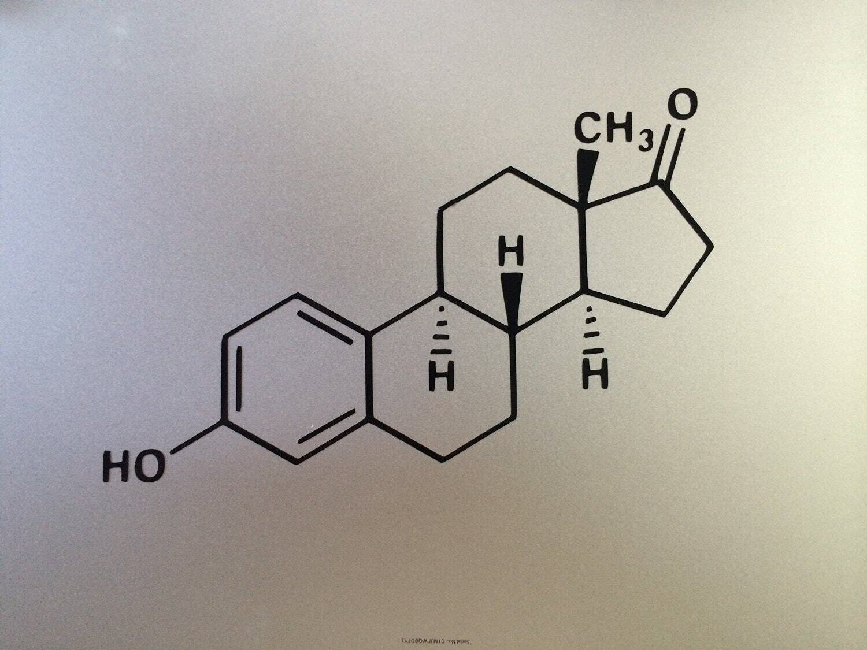 Estrogen Decal Molecular Decal Chemistry MacBook Air Pro Decal
