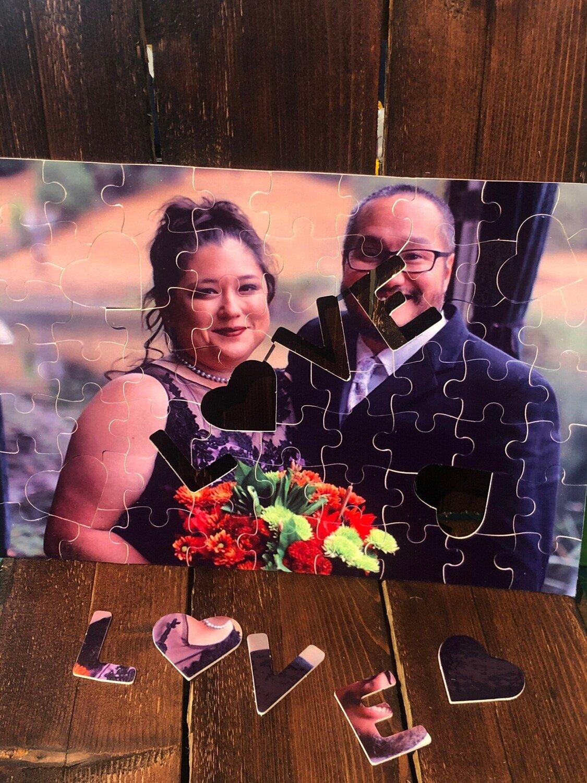 Custom 120 Piece L O V E  love Photo Jigsaw Puzzle with free gift box or bag!