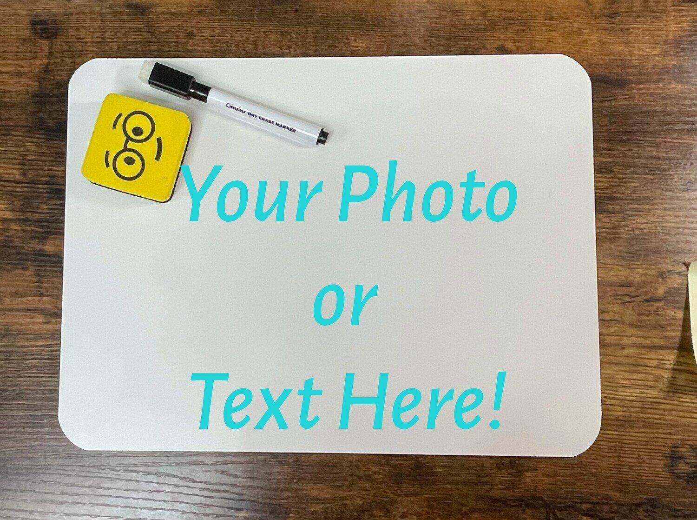 Custom Photo Dry Erase Board, Kids Homeschool, Lap Board, Teacher Gift, Chalkboard