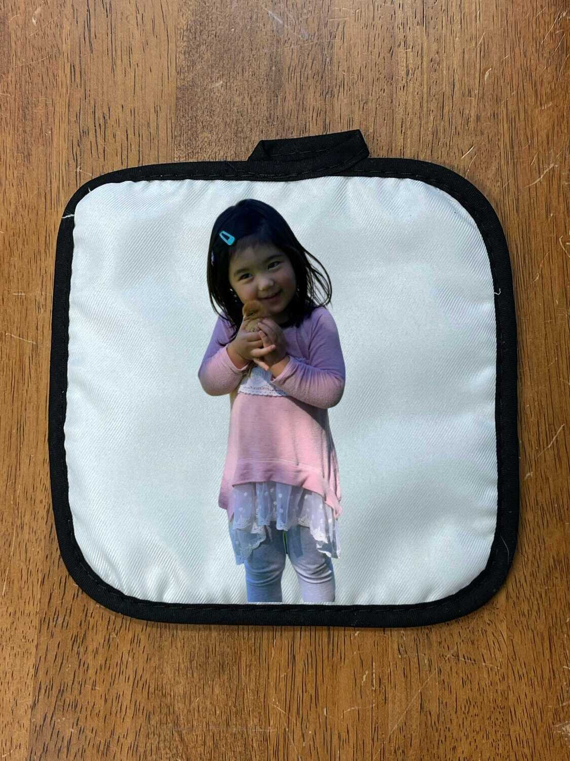 Photo Personalized Pot Holder, Personalized Hot Pad, Oven Mitt