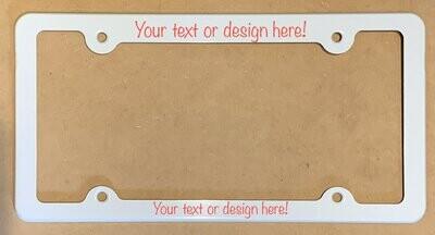 Custom photo License Plate Frame