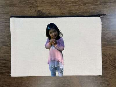 Makeup Bag, Custom Photo Cosmetic Bag Pouch, Free Double Side Personalization!! Quality USA made canvas!