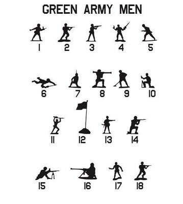 Giant Green Army Men Vinyl Decal