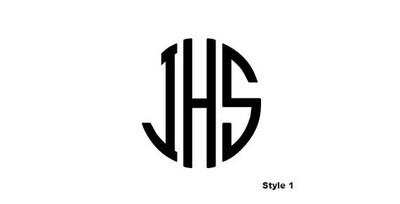 Vinyl Monogram Decals - Many Styles!