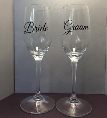 Wedding Decal - Bride and Groom- Wedding Decal, Reception Decal, Wedding Decoration