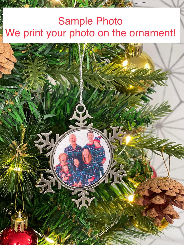 Custom Photo Snowflake Ornament - Double Sided!