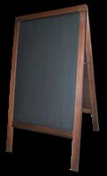 Штендер для мела деревянный, двусторонний 100 Х 60 см