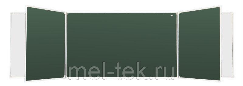 Пятиэлементные доски для мела и маркера, комби 300 х 100 см