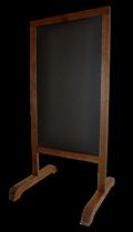 Стойка для мела деревянная, двусторонняя 100 Х 60 см